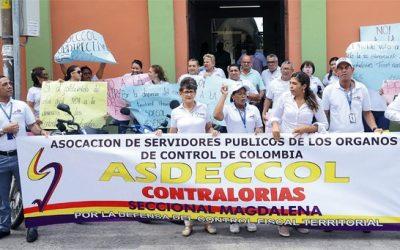Trabajadores de la Contraloría del Magdalena rechazan propuesta de eliminarlas