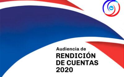 Audiencia Rendición de cuentas 2020